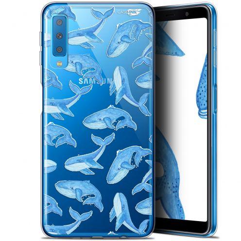 "Carcasa Gel Extra Fina Samsung Galaxy A7 2018 (A750) (6"") Design Baleines"