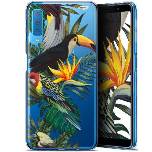 """Carcasa Gel Extra Fina Samsung Galaxy A7 2018 (A750) (6"""") Design Toucan Tropical"""
