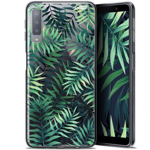 """Carcasa Gel Extra Fina Samsung Galaxy A7 2018 (A750) (6"""") Design Feuilles des Tropiques"""
