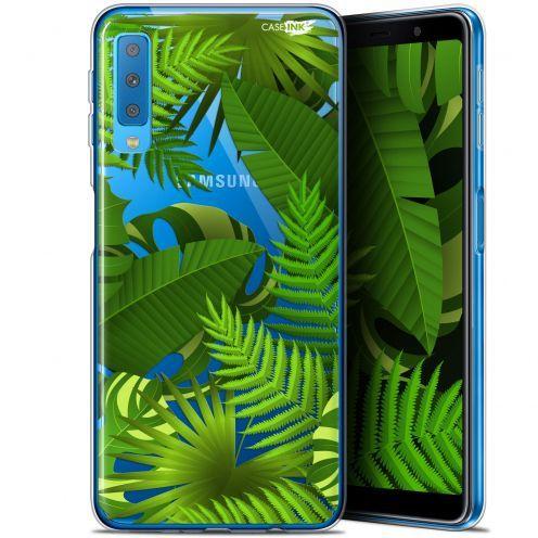 "Carcasa Gel Extra Fina Samsung Galaxy A7 2018 (A750) (6"") Design Plantes des Tropiques"