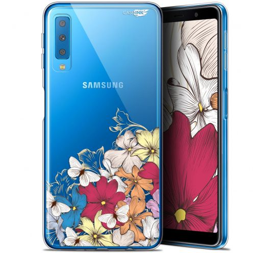 "Carcasa Gel Extra Fina Samsung Galaxy A7 2018 (A750) (6"") Design Nuage Floral"