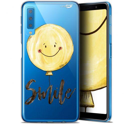 """Carcasa Gel Extra Fina Samsung Galaxy A7 2018 (A750) (6"""") Design Smile Baloon"""