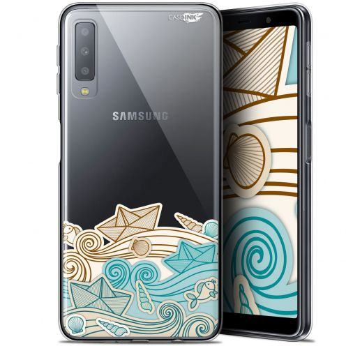 "Carcasa Gel Extra Fina Samsung Galaxy A7 2018 (A750) (6"") Design Bateau de Papier"