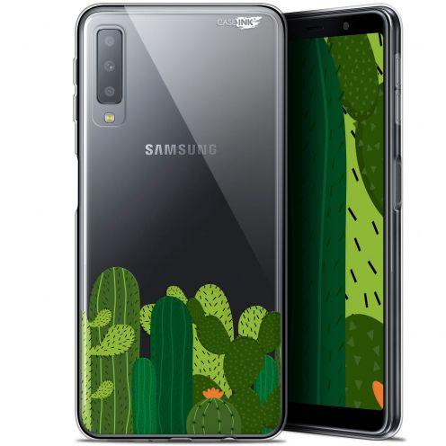 """Carcasa Gel Extra Fina Samsung Galaxy A7 2018 (A750) (6"""") Design Cactus"""