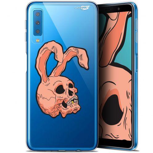 "Carcasa Gel Extra Fina Samsung Galaxy A7 2018 (A750) (6"") Design Rabbit Skull"