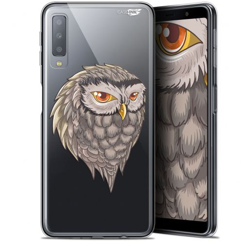 """Carcasa Gel Extra Fina Samsung Galaxy A7 2018 (A750) (6"""") Design Hibou Draw"""