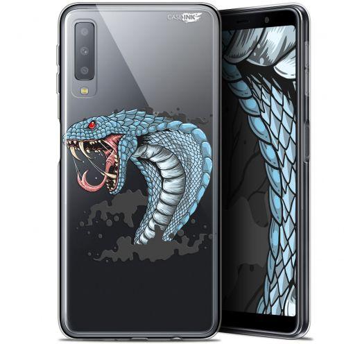 "Carcasa Gel Extra Fina Samsung Galaxy A7 2018 (A750) (6"") Design Cobra Draw"