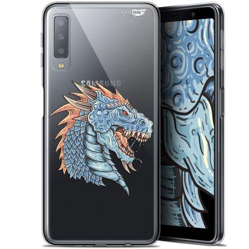 """Carcasa Gel Extra Fina Samsung Galaxy A7 2018 (A750) (6"""") Design Dragon Draw"""