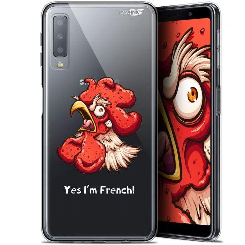 """Carcasa Gel Extra Fina Samsung Galaxy A7 2018 (A750) (6"""") Design I'm French Coq"""