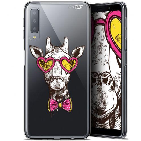 "Carcasa Gel Extra Fina Samsung Galaxy A7 2018 (A750) (6"") Design Hipster Giraffe"