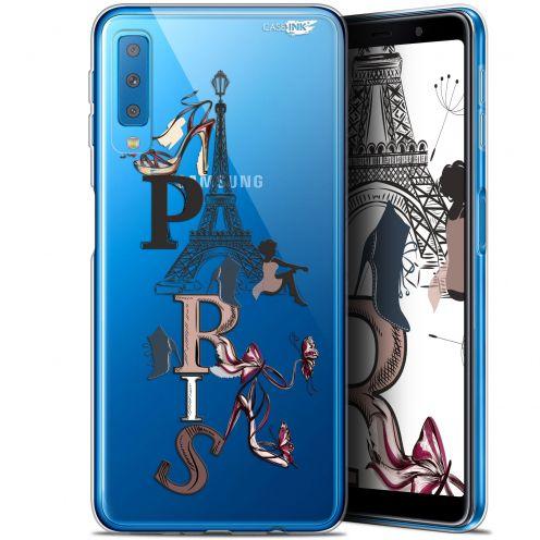 """Carcasa Gel Extra Fina Samsung Galaxy A7 2018 (A750) (6"""") Design Stylish Paris"""