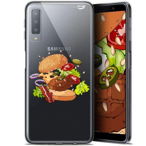 "Carcasa Gel Extra Fina Samsung Galaxy A7 2018 (A750) (6"") Design Splash Burger"