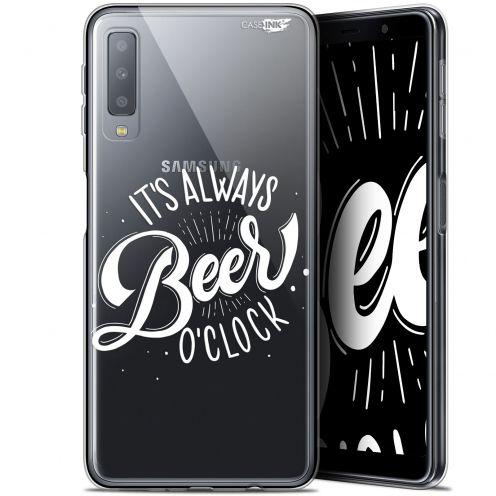 "Carcasa Gel Extra Fina Samsung Galaxy A7 2018 (A750) (6"") Design Its Beer O'Clock"