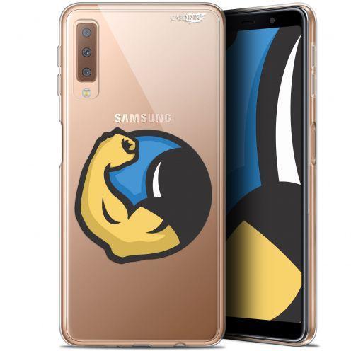 "Carcasa Gel Extra Fina Samsung Galaxy A7 2018 (A750) (6"") Design Monsieur Muscle"