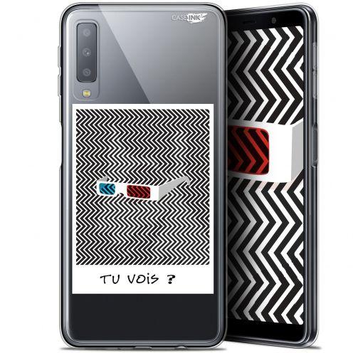 """Carcasa Gel Extra Fina Samsung Galaxy A7 2018 (A750) (6"""") Design Tu Vois ce que Je Vois ?"""