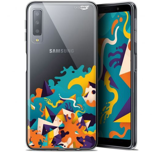 "Carcasa Gel Extra Fina Samsung Galaxy A7 2018 (A750) (6"") Design Les Vagues"