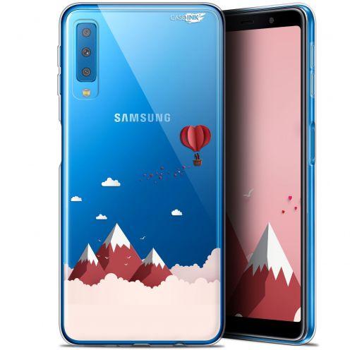 "Carcasa Gel Extra Fina Samsung Galaxy A7 2018 (A750) (6"") Design Montagne En Montgolfière"