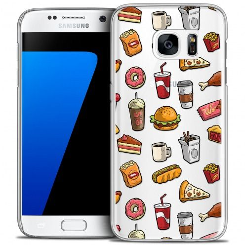 Carcasa Crystal Extra Fina Galaxy S7 Foodie Fast Food