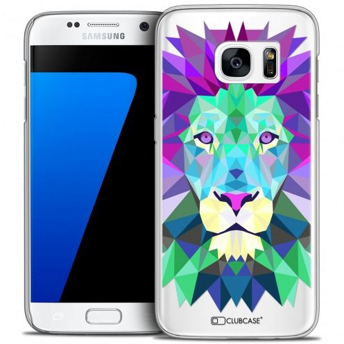 Carcasa Crystal Extra Fina Galaxy S7 Polygon Animals León
