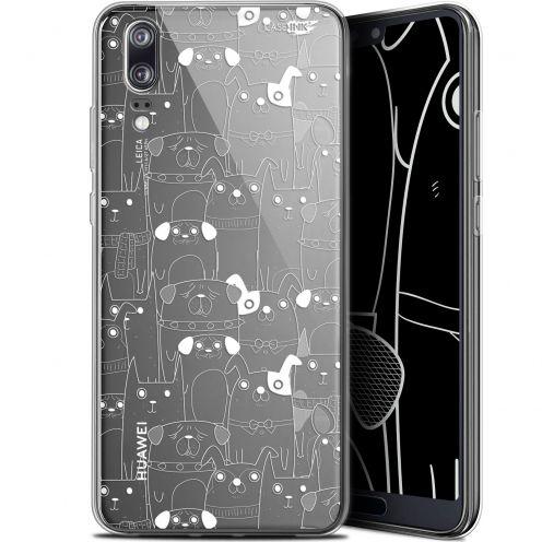 "Carcasa Gel Extra Fina Huawei P20 (5.8"") Design Chien Blanc"