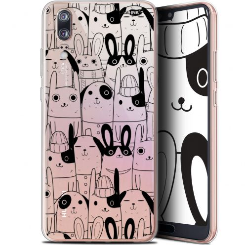 "Carcasa Gel Extra Fina Huawei P20 (5.8"") Design Lapin Noir"