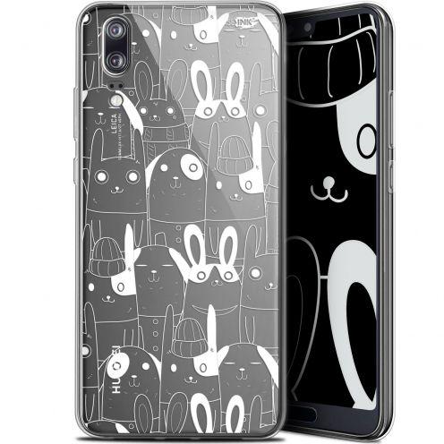 "Carcasa Gel Extra Fina Huawei P20 (5.8"") Design Lapin Blanc"