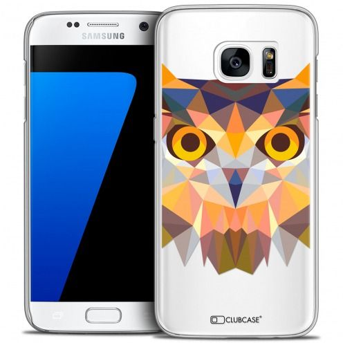 Carcasa Crystal Extra Fina Galaxy S7 Polygon Animals Búho