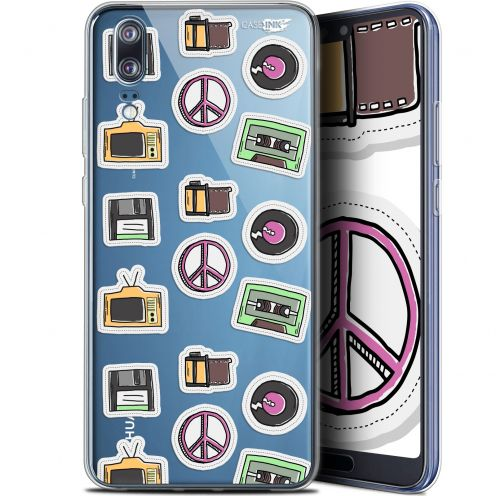 "Carcasa Gel Extra Fina Huawei P20 (5.8"") Design Vintage Stickers"