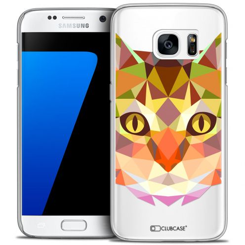 Carcasa Crystal Extra Fina Galaxy S7 Polygon Animals Gato