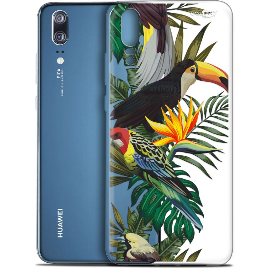 "Carcasa Gel Extra Fina Huawei P20 (5.8"") Design Toucan Tropical"