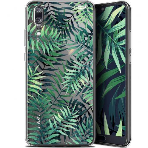 "Carcasa Gel Extra Fina Huawei P20 (5.8"") Design Feuilles des Tropiques"