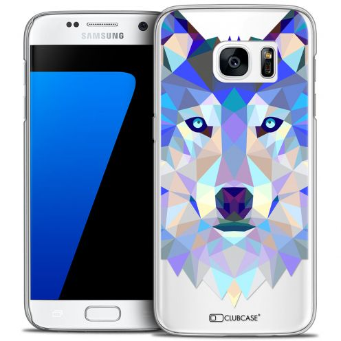 Carcasa Crystal Extra Fina Galaxy S7 Polygon Animals Lobo