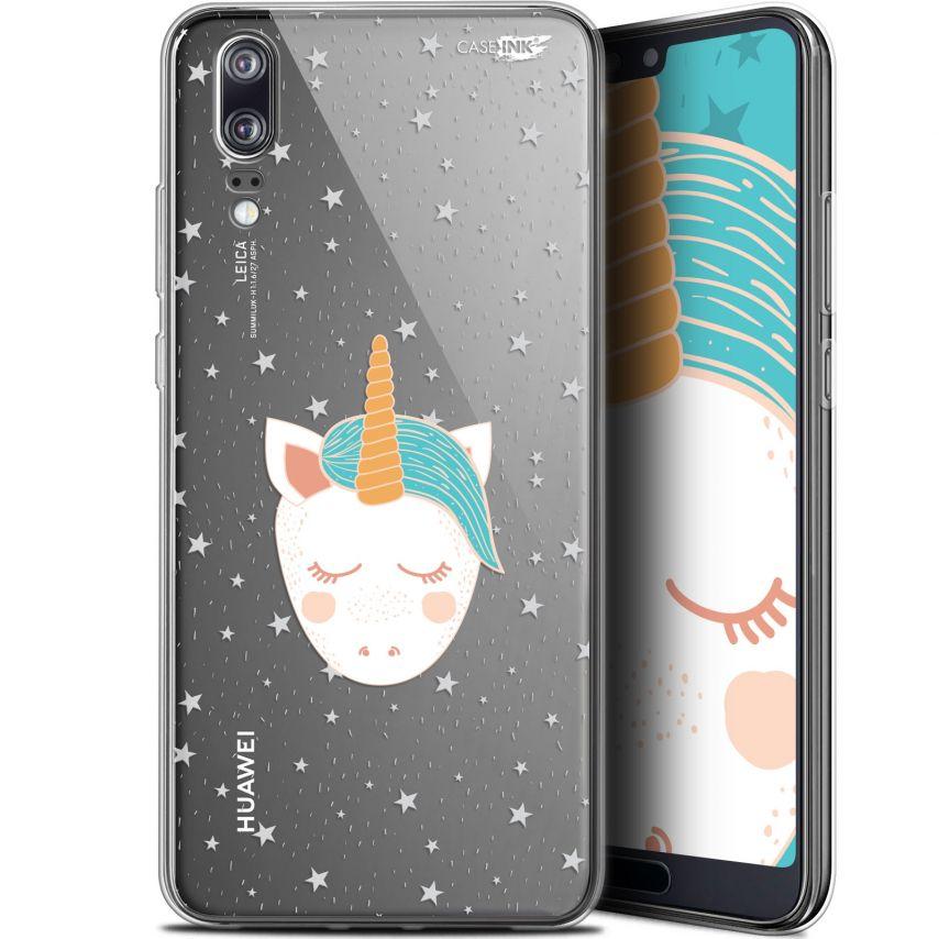 """Carcasa Gel Extra Fina Huawei P20 (5.8"""") Design Licorne Dors"""
