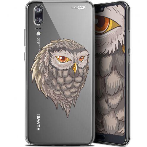 "Carcasa Gel Extra Fina Huawei P20 (5.8"") Design Hibou Draw"