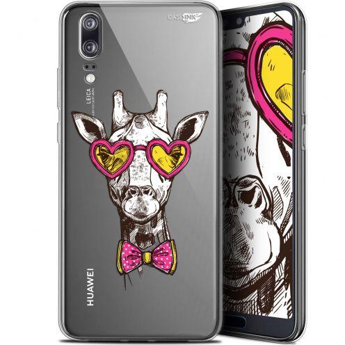 "Carcasa Gel Extra Fina Huawei P20 (5.8"") Design Hipster Giraffe"