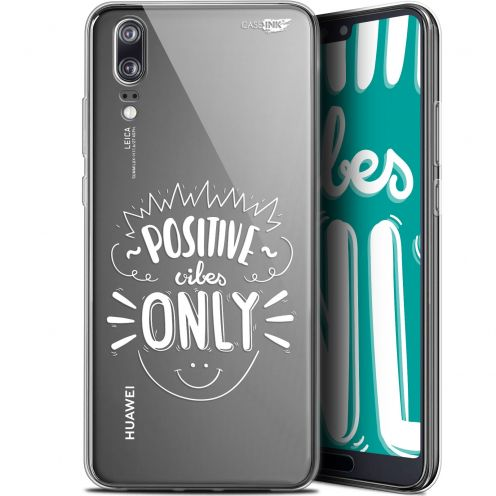 "Carcasa Gel Extra Fina Huawei P20 (5.8"") Design Positive Vibes Only"