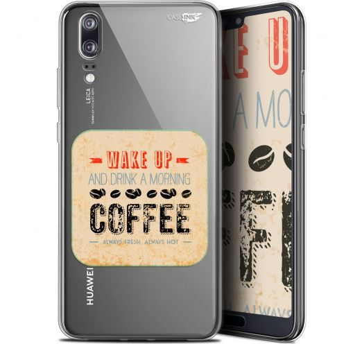 "Carcasa Gel Extra Fina Huawei P20 (5.8"") Design Wake Up With Coffee"