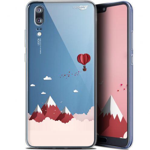 """Carcasa Gel Extra Fina Huawei P20 (5.8"""") Design Montagne En Montgolfière"""