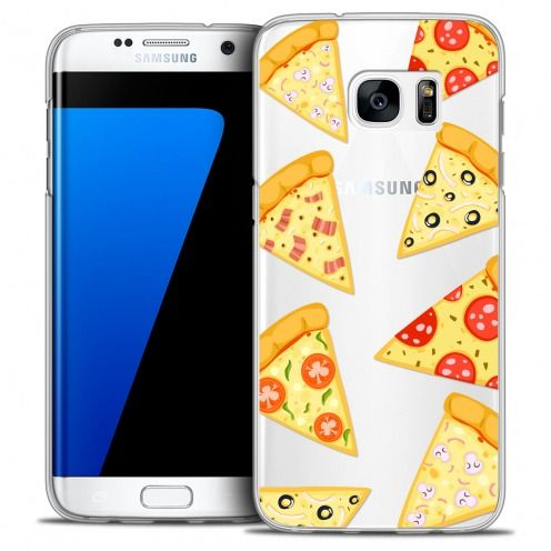 Carcasa Crystal Extra Fina Galaxy S7 Edge Foodie Pizza