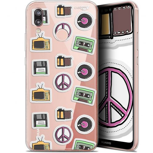 "Carcasa Gel Extra Fina Huawei P20 Lite (5.84"") Design Vintage Stickers"