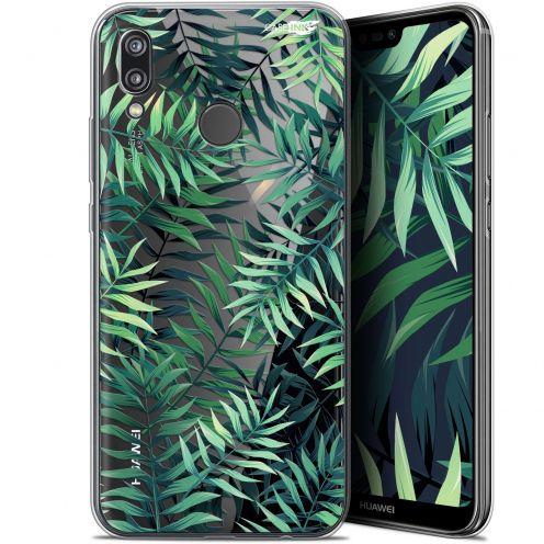 "Carcasa Gel Extra Fina Huawei P20 Lite (5.84"") Design Feuilles des Tropiques"