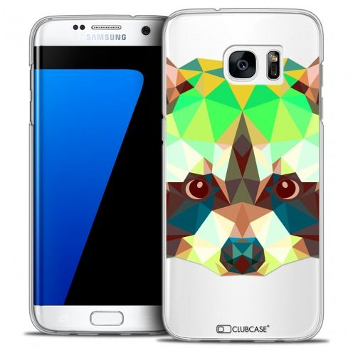 Carcasa Crystal Extra Fina Galaxy S7 Edge Polygon Animals Mapache