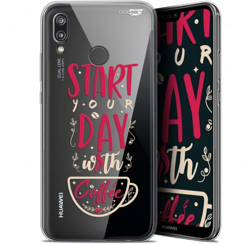 "Carcasa Gel Extra Fina Huawei P20 Lite (5.84"") Design Start With Coffee"