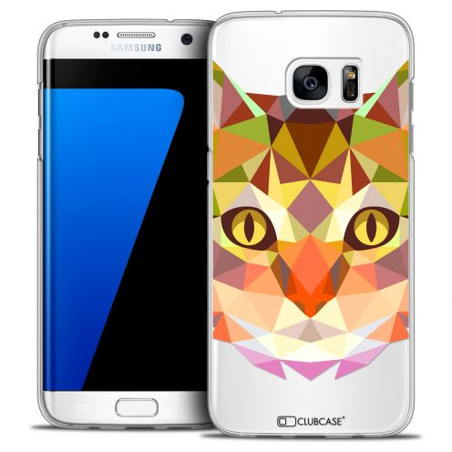 Carcasa Crystal Extra Fina Galaxy S7 Edge Polygon Animals Gato