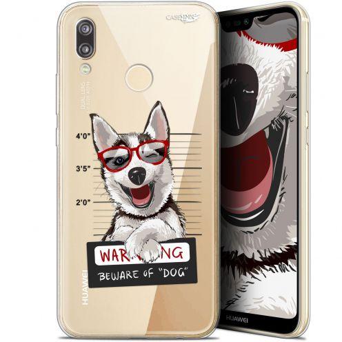 "Carcasa Gel Extra Fina Huawei P20 Lite (5.84"") Design Beware The Husky Dog"