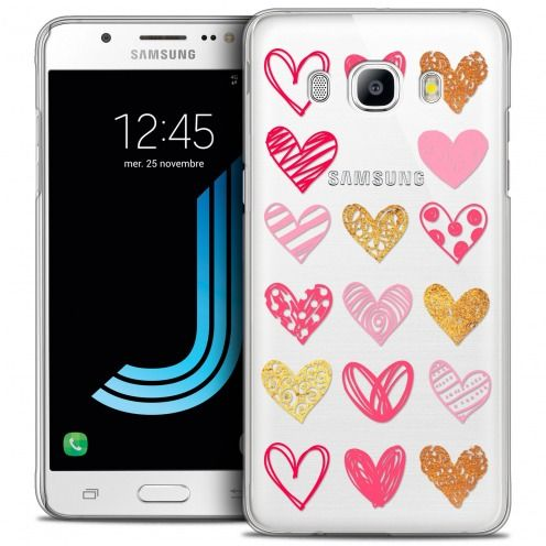 Carcasa Crystal Extra Fina Galaxy J5 2016 (J510) Sweetie Doodling Hearts