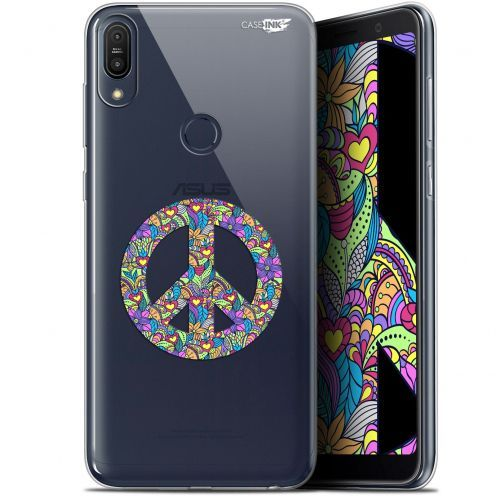 "Carcasa Gel Extra Fina Asus Zenfone Max Pro (M1) ZB601KL/602KL (6"") Design Peace And Love"