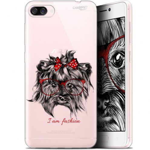 "Carcasa Gel Extra Fina Asus Zenfone 4 Max ZC520KL (5.2"") Design Fashion Dog"