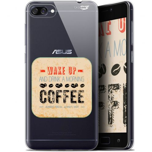 "Carcasa Gel Extra Fina Asus Zenfone 4 Max ZC520KL (5.2"") Design Wake Up With Coffee"
