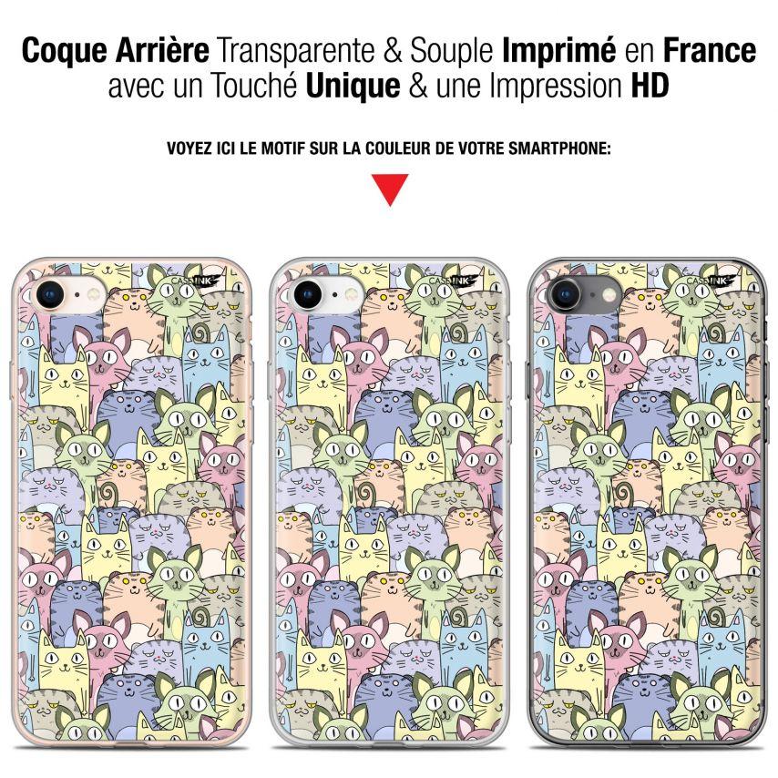 "Carcasa Gel Extra Fina Apple iPhone 7/8 (4.7"") Design Foule de Chats"